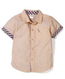Babyhug Half Sleeves Shirt - Cream