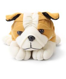 Playtoons Bull Dog White And Brown - 13 Inches