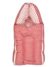 Luk Luck Port Baby Sleeping Bag Stripe Pattern - Red