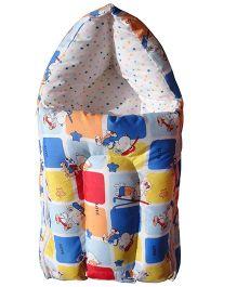 Luk Luck Port Baby Sleeping Bag Cartoon Print - Blue