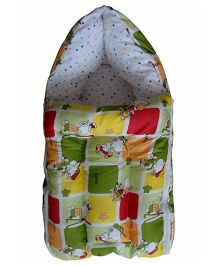 Luk Luck Port Baby Sleeping Bag Cartoon Print - Green