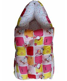 Luk Luck Port Baby Sleeping Bag Cartoon Print - Pink