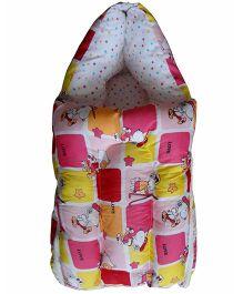 Luk Luck Port Baby Sleeping Bag Cartoon Print - Pink