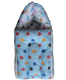 Luk Luck Port Baby Sleeping Bag Apple Print - Blue