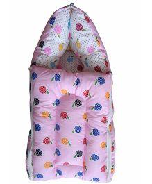 Luk Luck Port Baby Sleeping Bag Apple Print - Pink