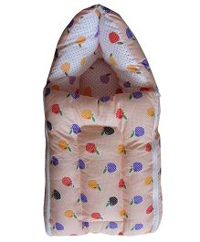 Luk Luck Port Baby Sleeping Bag Apple Print - Cream