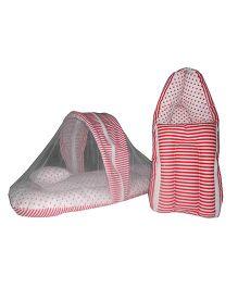 Luk Luck Port Baby Sleeping Bag With Mosquito Net Combo Gift Set - Red