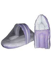 Luk Luck Port Baby Sleeping Bag With Mosquito Net Combo Gift Set - Purple