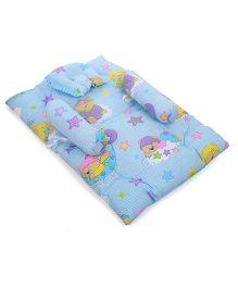 Babyhug Baby Bedding Set With Good Night Print - Blue