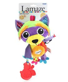 Lmaze Rylie Racoon Soft Rattle Toy - Purple