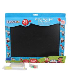 Doraemon 3 in 1 First Writing Cum Play Board - Black