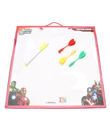 Marvel Avengers 2 in 1 First Wipe & Write and Dart Board - White