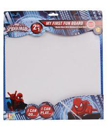 Spiderman 2 in 1 Writing Cum Game Board - White