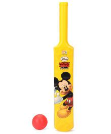 Disney Mickey Mouse Cricket Ball And Bat(Color may Vary)