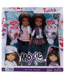 Moxie Girlz Twins Jaylen And Sarai Dolls Pink Purple Set Of 2 - 24.5 cm