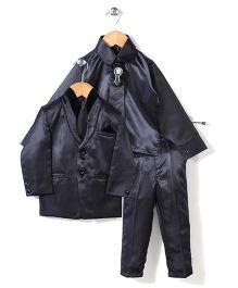 Babyhug 4 Piece Party Suit -  Grey