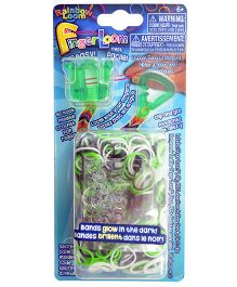 Rainbow Loom Finger Loom Bands - Green