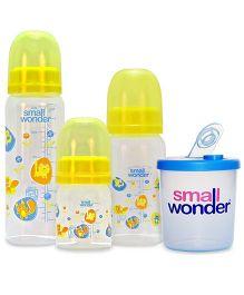 Small Wonder Admire Feeding  Set of 4 - Yellow & Blue