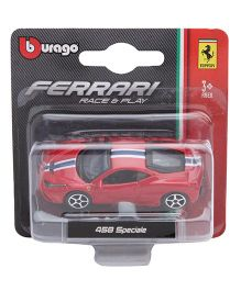 Bburago Ferrari 458 Speciale Race And Play Car Toy - Red
