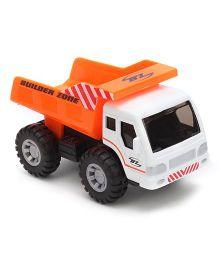 Maisto Fresh Metal Builder Zone Dumper Truck - White And Orange
