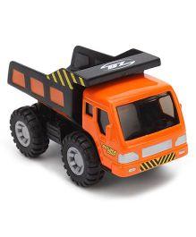 Maisto Fresh Metal Builder Zone Dumper Truck - Orange And Black