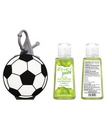 Zuci Junior Green Apple Hand Sanitizer With Foot Ball Bag Tag - 30 ml