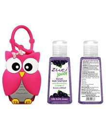 Zuci Junior Black Current Sanitizer With Owl Bag Tag - 30 ml