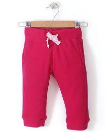 Fox Baby Fleece Track Pant - Pink