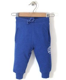 Fox Baby Explore Print Track Pant - Blue
