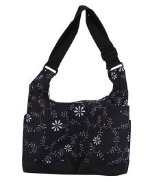 Ryco Diaper Bag Floral Print - Black