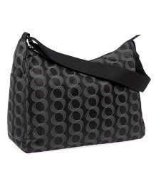 Kelly Nursery Bag Circular Design - Black