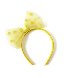 Princess Cart Ribbon Bowknot Hairband - Yellow
