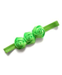 Princess Cart Roses Sequence Headband - Light Green