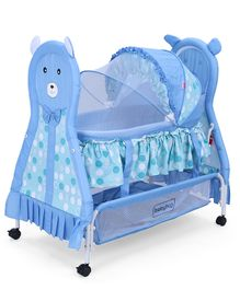 Babyhug Love Teddy Bassinet - Blue