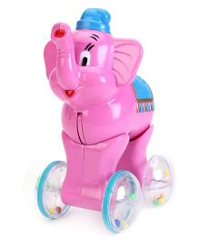 Kumar Toys Push And Go Elephant - Pink