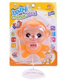 Kumar Toys Pull Along Monkey - Orange