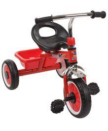 Kids Trike Print Baby Tricycle With Metal Mudguard  - Red And Black