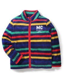 Mothercare Stripe Fleece Sweatshirt - Multicolour