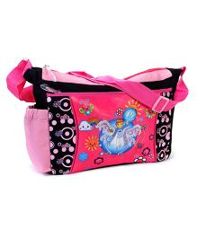 Power Puff Girls Messenger Bag Black and Pink - 10 Inches