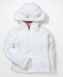 Mothercare Hooded Jacket - White
