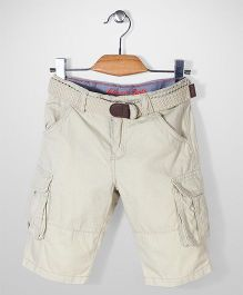 Mothercare Belted Cargo Shorts - Beige
