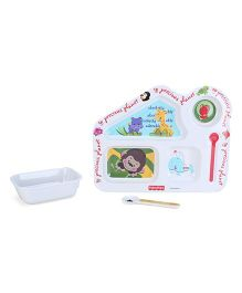 Fisher Price Precious Planet House Shape Feeding Set - 3 Pieces