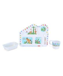 Fisher Price Learning Numbers House Shape Meal Set - 4 Pieces