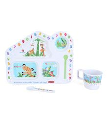 Fisher Price Learning Numbers House Shape Meal Set - 3Pieces