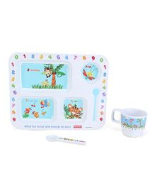 Fisher Price Learning Numbers Meal Set - 3 Pieces