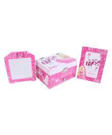 Barbie Jewellery Box And Photo Frame - Pink
