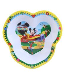 Disney Mickey Mouse Head Shape Plate - Yellow And Blue