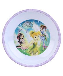 Disney Fairies Round Deep Plate - Purple
