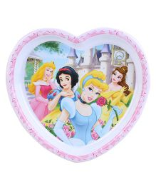 Disney Princess Heart Shape Plate - Pink