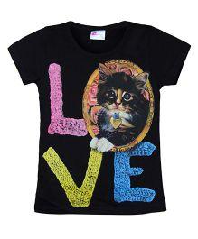 Eimoie Love Print T-Shirt - Black